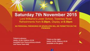 Thame Primary Schools Fireworks 2015