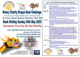 Are you ready for the 2020 Charity Dragon Boat Challenge?