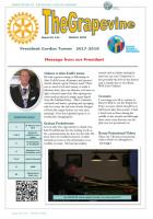 The front page of March 2018 Newsletter