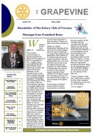 April newsletter front page