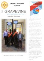Frontpage of September 2018 Grapevine