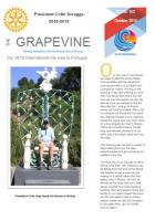 Front page of October 2018 Grapevine
