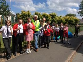 Litter picking with St Wulstans pupils