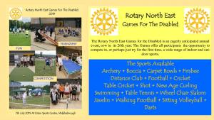 Rotary North East Games for the Disabled