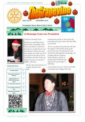 The frontpage of Grapevine for December 2013