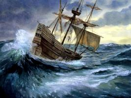 The Mayflower Voyage to America, talk by Rtn George English
