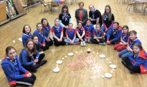 Visit of Lynn Gee to 3rd Thelwall Guides