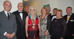 Top Table guests at Horncastle's 40th Anniversary Charter dinner