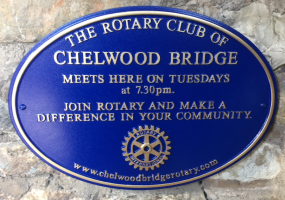 Chelwood Bridge Rotary - Same Home, New Plaque