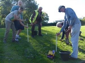 Crocus bulb planting at St. Georges School 2015
