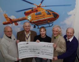 Presentation of £2550 to MAGPAS