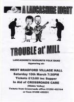 Lancashire Night in aid of CrossRoads Care - West Bradford Village Hall - Saturday 10th March 2012