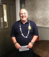Council/Business meeting - Oops he forgot his chain