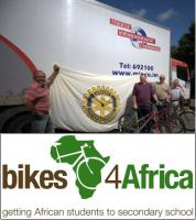 Bikes 4 Africa - over 200 bikes donated from Isle of Man in 2014