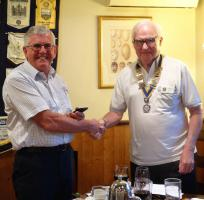 Chelwood Bridge Rotary Club has a new President!