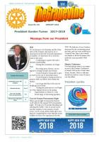 Front page of our January 2018 Newsletter