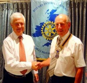 New Rotary President inducted