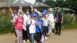 Fine weather for 'Kids Out' at Wicksteed Park, Kettering