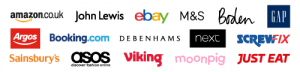 Some of the retailers supporting easyfundraising
