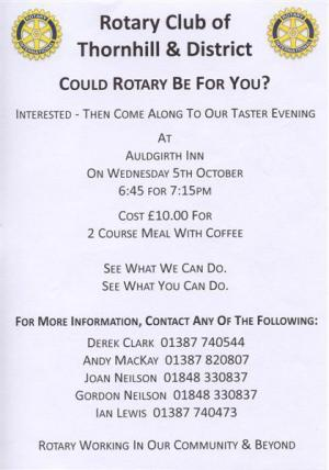 Is Rotary For You? Come and Enjoy a Meeting