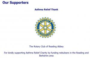 Reading Abbey providing  Nebulisers for Asthma Relief