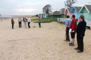 Boules on Mersea beach