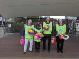 End Polio Collection in Woodley Town Centre