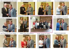 Cheque presentations and charity updates