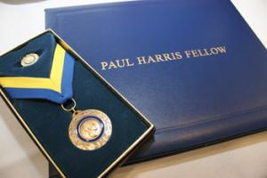 Two members receive the 'Paul Harris' Fellowship Award