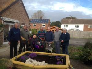 Rotarians Gardening at the Mencap Home in Waltham