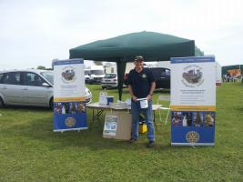 Selling tickets at Popham Air Show 5th May