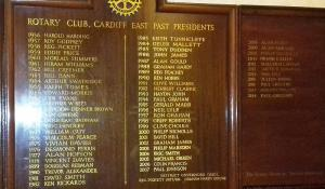 Record of Presidents since Club Inauguration in 1956.