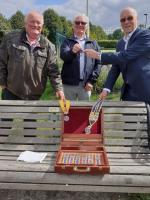 Newbury Rotary Presidents Meet Social Distancing Challenge