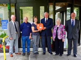Defibrillator Collaboration Initiative at, Botanic Gardens, Dundee