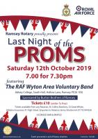 Last Night of the Proms Saturday 12th October 2019