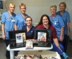 Pictured (L-R) are Ruth, Nicole, Jane (Senior Charge Nurse), Lara Anderson (Jim's daughter), Pauline and Jilly.