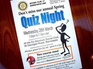 QUIZ NIGHT NOVEMBER 15th