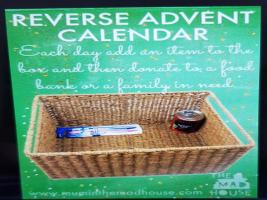 Reverse Advent Calendar in support of Gloucester Foodbank