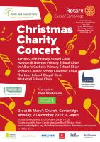 Christmas Charity Concert  Monday 2 December 6:30 pm