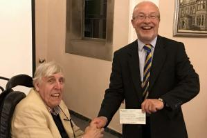 Cheque Presentation for Multiple Sclerosis Society