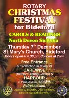 Rotary Christmas Festival for Bideford - 7th December at St. Mary's Church, Bideford