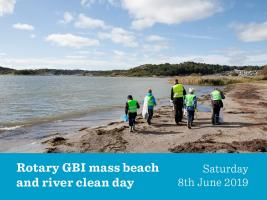 Rotary GB&I Beach and River clean day