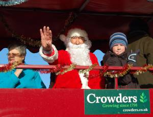Santa comes to Crowders