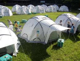 These are the tents contained in a typical Shelter Box