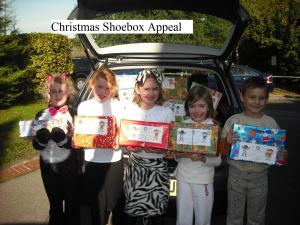 School Shoebox collections 2016 - See Video https://www.youtube.com/watch?v=50v-_IXFkIM