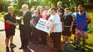 Rotary  donates £1,000 to Special Olympics Isle of Man - July 2018