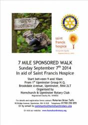 Sponsored Walk Sunday 7th September 2014