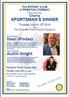 Charity Sportsman's Dinner 2018