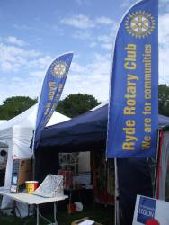 Rotary Club of Ryde at the 40th Island Steam Show