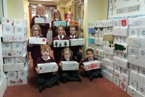 St Chad's School - part of the shoebox donation.